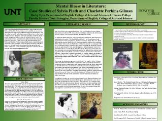 Mental Illness in Literature:  Case Studies of Sylvia Plath and Charlotte Perkins Gilman