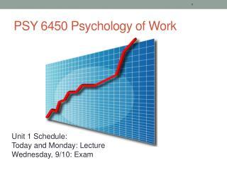 PSY 6450 Psychology of Work
