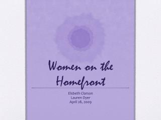 Women on the Homefront