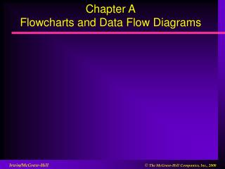 Chapter A Flowcharts and Data Flow Diagrams
