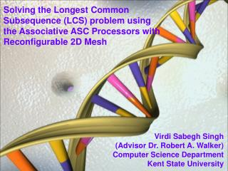 Virdi Sabegh Singh (Advisor Dr. Robert A. Walker) Computer Science Department