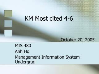 KM Most cited 4-6