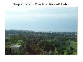 Newport Beach - View from Marriott Hotel