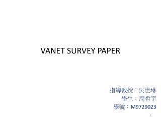 VANET SURVEY PAPER
