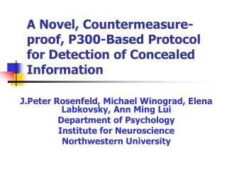A Novel, Countermeasure-proof, P300-Based Protocol for Detection of Concealed Information