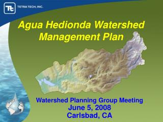 Agua Hedionda Watershed Management Plan