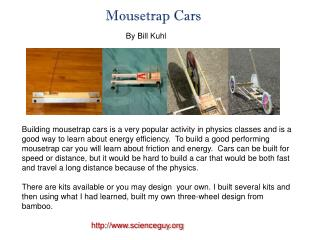 Mousetrap Cars