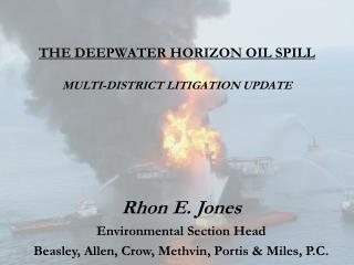 The Deepwater Horizon Oil Spill  Multi-District litigation update