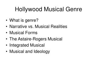 Hollywood Musical Genre