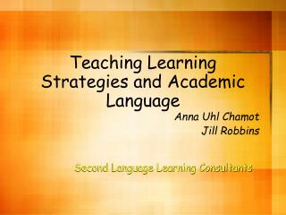 Teaching Learning Strategies and Academic Language