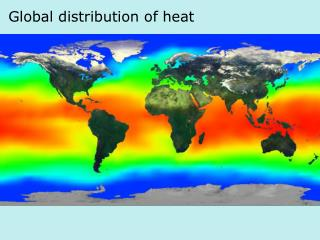 Global distribution of heat