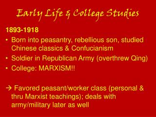 Early Life & College Studies