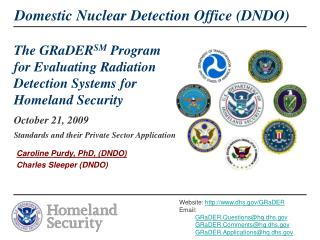 The GRaDER SM  Program for Evaluating Radiation Detection Systems for Homeland Security