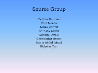 Source Group