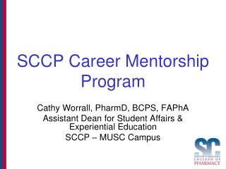 SCCP Career Mentorship Program