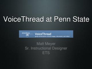VoiceThread at Penn State
