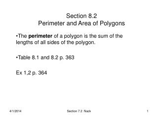 Section 8.2 Perimeter and Area of Polygons