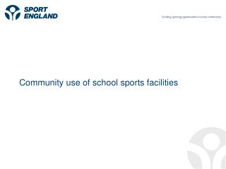 Community use of school sports facilities