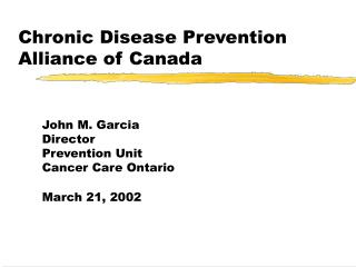 Chronic Disease Prevention Alliance of Canada