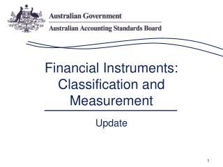 Financial Instruments: Classification and Measurement