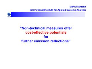 """Non-technical measures offer  cost-effective potentials  for  further emission reductions"""