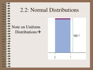 2.2: Normal Distributions