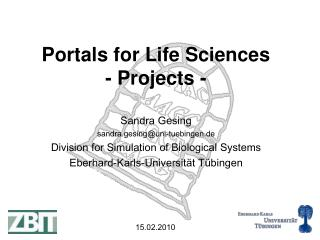 Portals for Life Sciences - Projects -