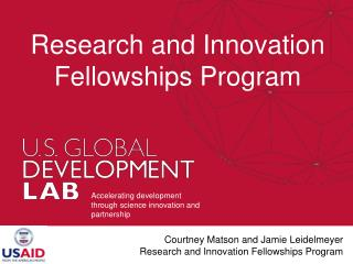 Research and Innovation Fellowships Program