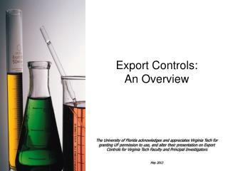 Export Controls:  An Overview