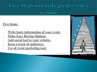 Five Steps towards great event???s website
