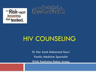 HIV COUNSELING