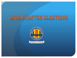 AVVA Chapter Elections