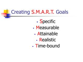 Creating  S.M.A.R.T.  Goals