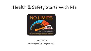 Health & Safety Starts With Me