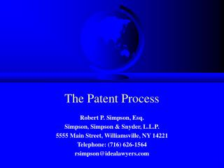 The Patent Process
