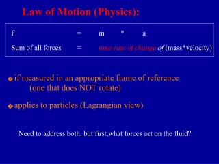 Law of Motion (Physics):