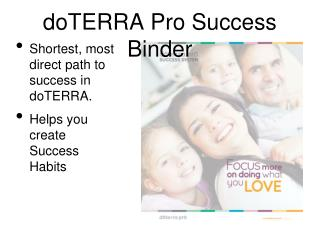 doTERRA Pro Success Binder