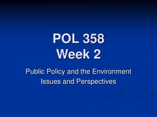 public policy problems in the environment