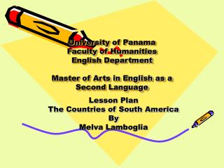 Lesson Plan The Countries of South America By Melva Lamboglia