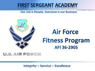 Air Force  Fitness Program AFI 36-2905