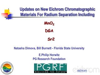 Updates on New Eichrom Chromatographic Materials For Radium Separation Including