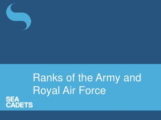 Ranks of the Army and Royal Air Force