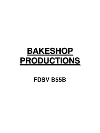 BAKESHOP PRODUCTIONS