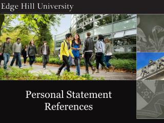 Personal Statement References