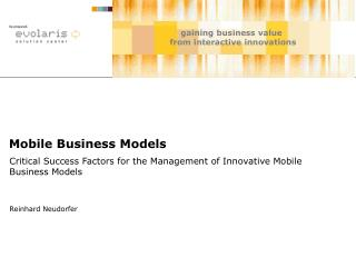 Mobile Business Models