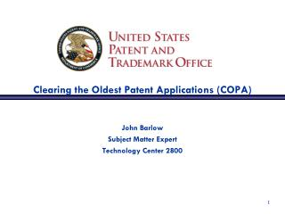 Clearing the Oldest Patent Applications (COPA)