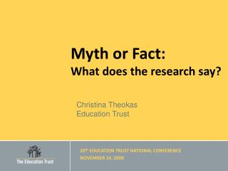 Myth or Fact: What does the research say?