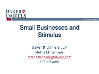 Small Businesses and Stimulus