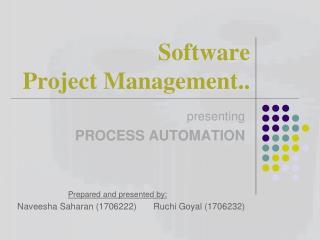Software  Project Management..