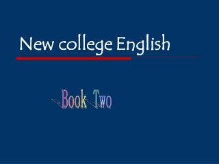 New college English